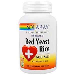 Solaray, Красный дрожжевой рис, 600 мг, 120 капсул