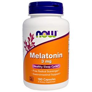 Now Foods, Мелатонин, 3 мг, 180 капсул