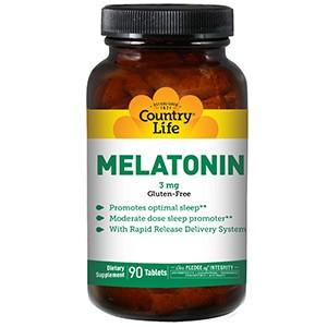 Country Life, Мелатонин, 3 мг, 90 таблеток