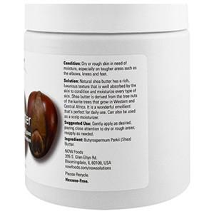 Now Foods, Решения, масло ши, 454 г