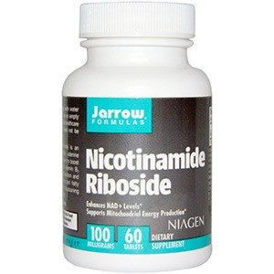 Jarrow Formulas, Никотинамид рибозид, 100 мг, 60 таблеток