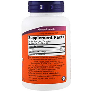 Now Foods, Кверцетин с бромелаином, 120 капсул
