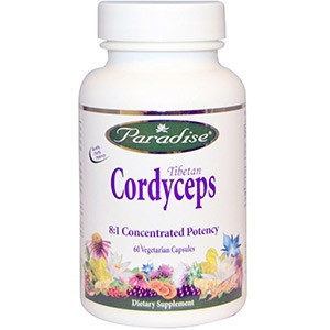 Paradise Herbs, Тибетский кордицепс, 60 капсул
