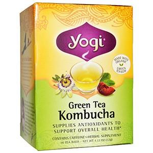 Yogi Tea, Зеленый чай с комбучей (чайным грибом)