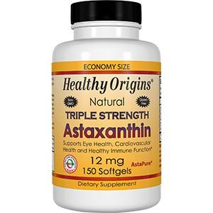Healthy Origins, Астаксантин тройной силы, 12 мг, 150 мягких таблеток