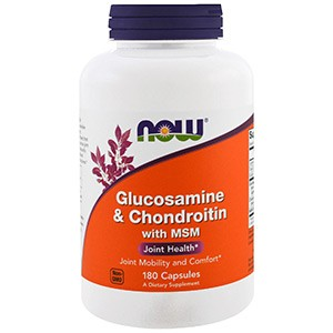 Now Foods, Глюкозамин и хондроитин с MSM