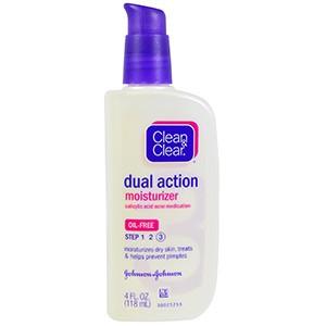 Clean & Clear, Увлажняющее средство двойного действия, лекарство от угревой сыпи с салициловой кислотой