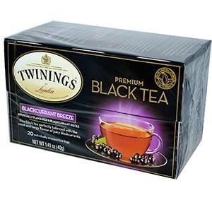Twinings, Премиум Черный чай, черная смородина 20 чайных пакетиков
