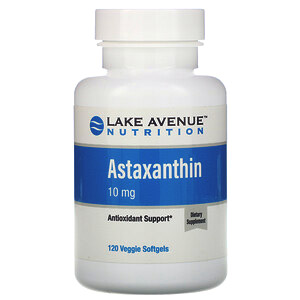 Lake Avenue Nutrition, Астаксантин, 10мг, 120вегетарианских мягких таблеток