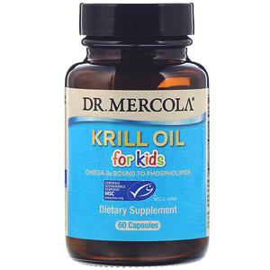 Dr. Mercola, крилевый жир для детей, 2 мг, 60 капсул