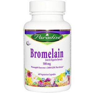 Paradise Herbs, Бромелайн, формула для суставов и пищеварения