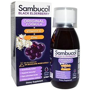 Sambucol, Черная бузина, Витамин С + Цинк