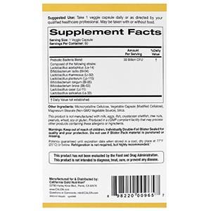California Gold Nutrition, Пробиотики LactoBif, 30 млрд КОЕ