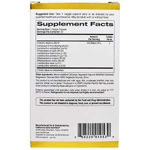 California Gold Nutrition, LactoBif 100 в блистере из двойной фольги