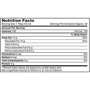 Jarrow Formulas, Органическое кокосовое масло, рафинированное