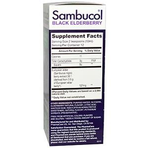 Sambucol, Сироп черной бузины без сахара