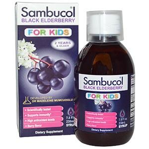 Sambucol, Черная бузина, Сироп для детей, с ягодным вкусом