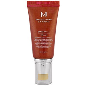 Missha, M Perfect Cover B.B Cream, No. 31 Золотисто Бежевый