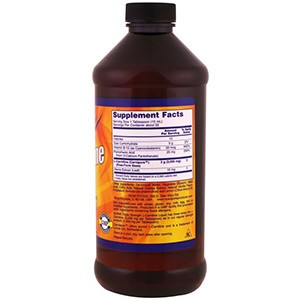Now Foods, Спортивное питание, Жидкий L-карнитин, Тройная сила, Цитрусовый вкус, 3000 мг