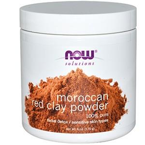 Now Foods, Решение проблем, Марокканская Красная глина, детоксикация кожи лица, в порошке