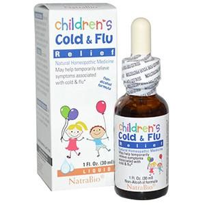 NatraBio, Средство от простуды и гриппа для детей с эхинацеей
