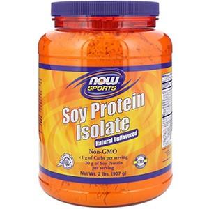 Now Foods, Спортивное питание, Изолят соевого протеина, натуральный вкус
