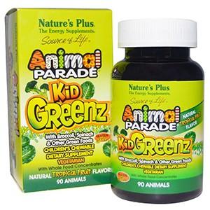 Nature's Plus, Источник жизни, Таблетки для детей в форме животных из зеленых овощей