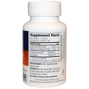 Enzymedica, SerraGold, высокоактивная серрапептаза