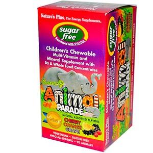Nature's Plus, Source of Life, «Парад животных», жевательные конфеты для детей