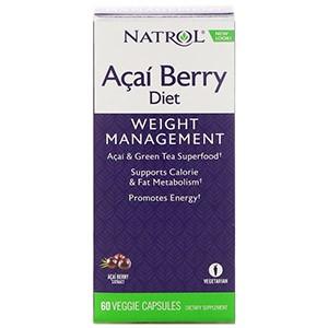 Natrol, AcaiBerry Diet, суперпродукты асаи и зеленый чай