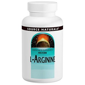 Source Naturals, L-аргинин, в свободной форме, 500 мг