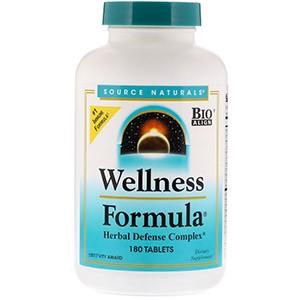 Source Naturals, Wellness Formula, растительный защитный комплекс