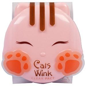Tony Moly, Cat's Wink, Матирующая компактная пудра, Светло-бежевый оттенок
