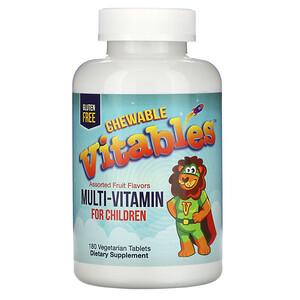 Vitables, мультивитамины для детей, со вкусами фруктов