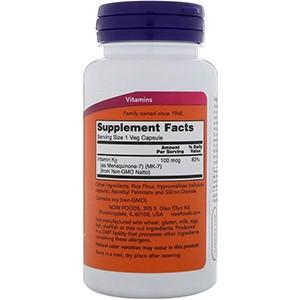 Now Foods, MK-7 витамин K-2