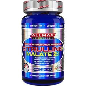 ALLMAX Nutrition, 100% чистая цитруллина малат + максимальная эффективность + впитывание