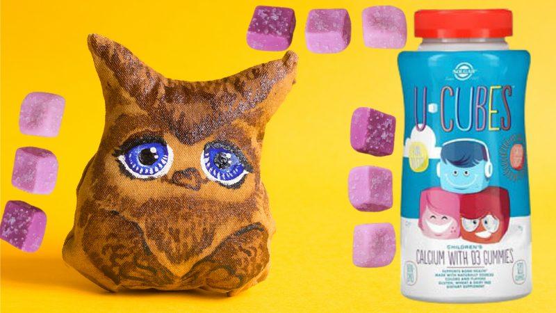 Solgar, U-Cubes, кальций с витамином D3 для детей