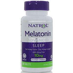 Natrol, Мелатонин, улучшенный сон, медленное высвобождение, 10 мг