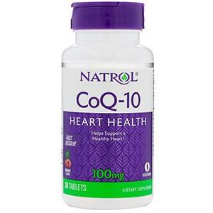 Natrol, CoQ-10, Быстрорастворимый, со вкусом вишни, 100 мг