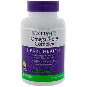 Natrol, Комплекс омега 3-6-9, со вкусом лимона