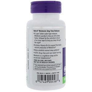 Natrol, Мелатонин, постепенного высвобождения, 3 мг