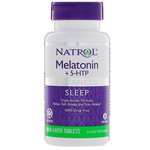 Natrol, Advanced Sleep Melatonin +5-HTP