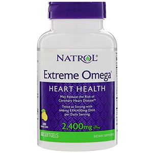 Natrol, Extreme Omega, Лимон