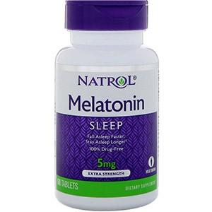 Natrol, Мелатонин, Экстра сила, 5 мг
