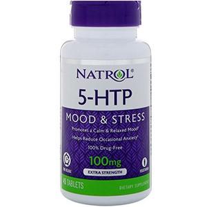 Natrol, 5-гидрокситриптофан, с отложенным высвобождением, экстра сильный