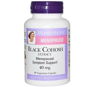Natural Factors, WomenSense, Менопауза, клопогон кистевидный