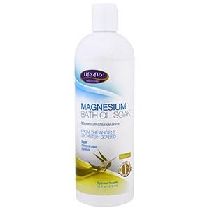 Life Flo Health, Масло для ванн с магнием, хлормагниевый рассол, эвкалипт