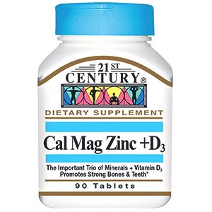 21st Century, Кальций, магний, цинк + D3