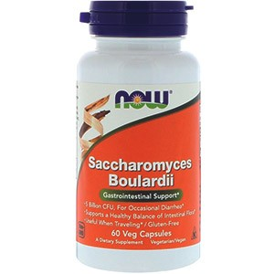 Now Foods, Сахаромицеты Буларди, поддержка желудочно-кишечной системы