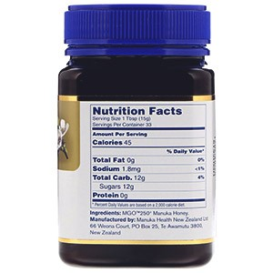 Manuka Health, Лесной мёд манука, MGO 250+